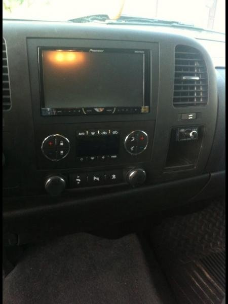 Pioneer AVH5600BHS DVD headunit, bypassed by toggle and the PAC LC-1 to control the subs output