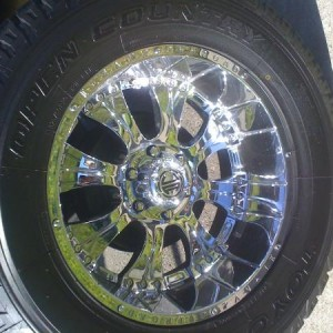 "20"" 2CRAVE NX-1 rims with 35""x12.5"" Toyo Open Country A/T's"