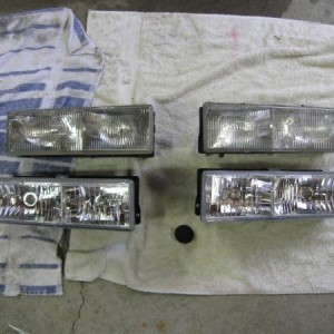 new and old headlights