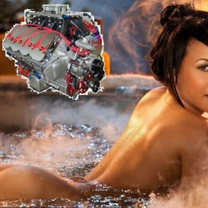 bad ass 727c.i. chevy w/hemi heads... and the hottest chick in the world miss Feb 2011.