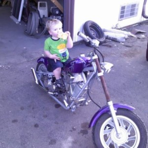 my little guys first bike...now he just needs to grow a little