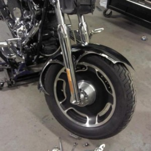 09 street glide wheels,and not sure if i like the fender or not