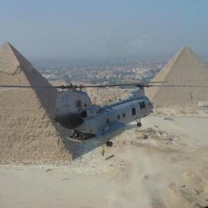 Flying over Giza