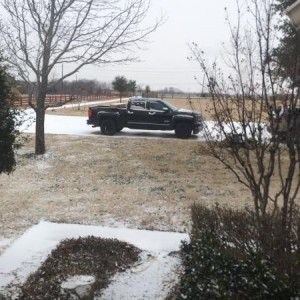 First snow in TX with truck