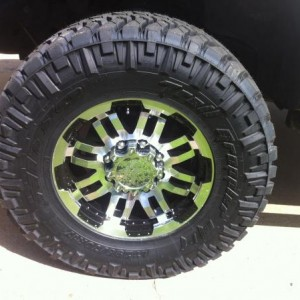 "17"" X 8.5"" Vision 375 Warrior Wheels. 33"" X 12"" Nitto Trail Grapplers."