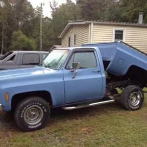 79 Chevy Truck with Dump Bed