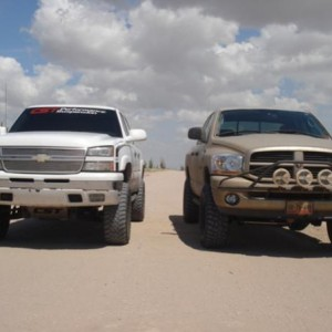 "6"" CST Lift with Toyo 35x12.50R17 vs Dodge 2500HD Diesel with 3"" KORE Lift with MT KM2 35x12.50R17"