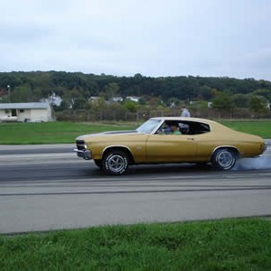 70 chevelle SS at flashlight drags
