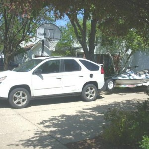 Our tow vehicle til I got the truck 04 Aztek(Spaceship)