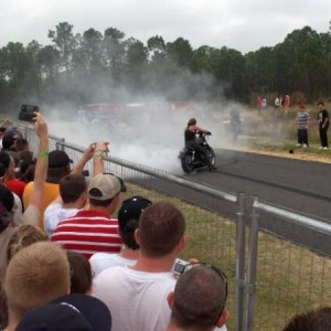 Harley Sportster Circle Burnout