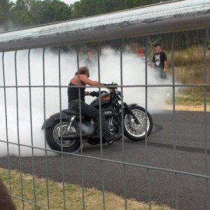 Harley Sportster Circle Burnout 2