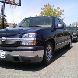 05 chevy extended cab with new drop kit and billet grill