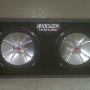just got rid of the box and looking for a flat box to fit the chevy!! 12inch kickers cvr
