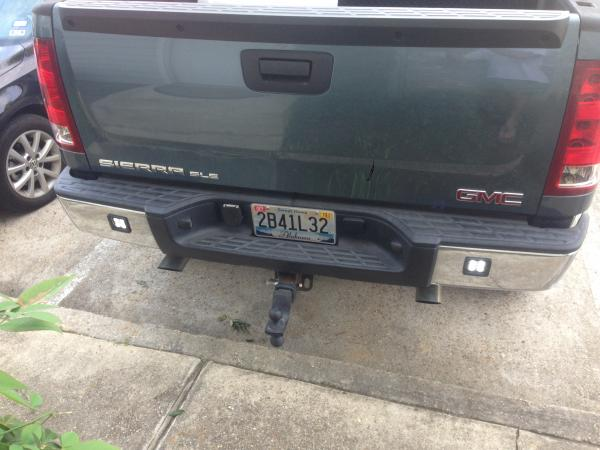 Custom flush mounted LED pods in bumper Chevy Truck Forum GMC